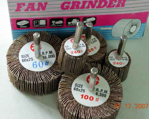 Abrasive Flap Cloth with Shank Wheel